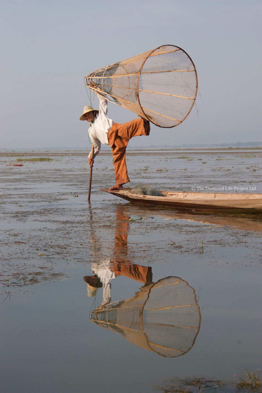 Fisherman Inle Lake, Myanmar. Taken by Linda Thomson