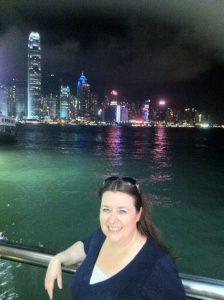 Linda Thomson travelling in Hong Kong