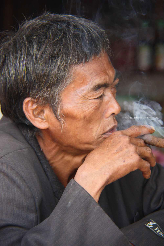 Local Village man, Laos. Taken by Linda Thomson