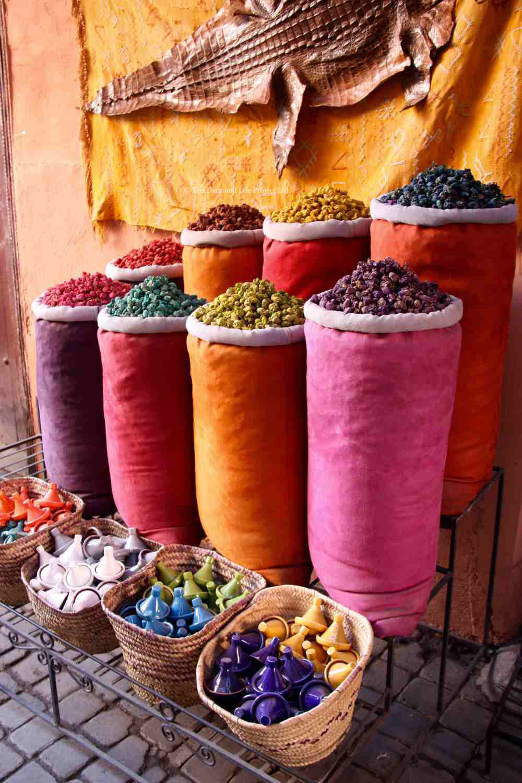 Moroccan spices, Marrakech. Taken by Linda Thomson