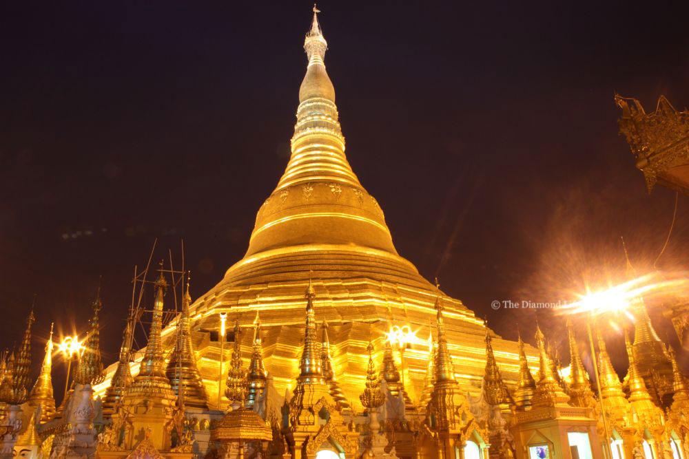 Shwedagon Pagoda, Myanmar. Taken by Linda Thomson