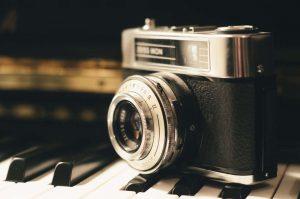 Unsplash Camera Stock Photo for backgrounds
