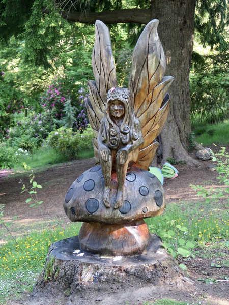 Fairy statue in garden